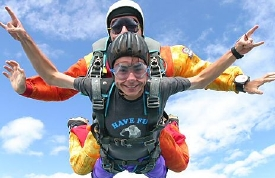 Christiansburg Virginia tandem skydiving gift certificates